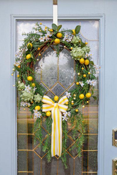 DIY Artichoke Lemon Wreath