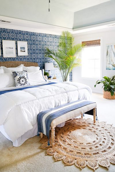 Coastal Blues Master Bedroom Makeover