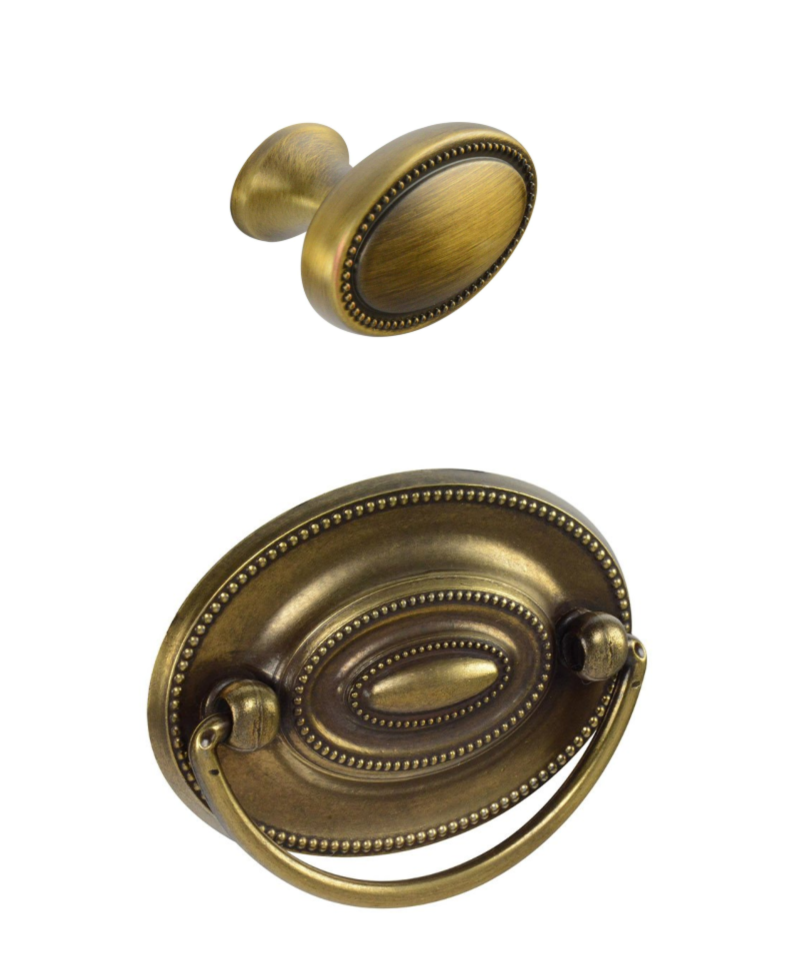 Brass Hepplewhite Drawer pull 2