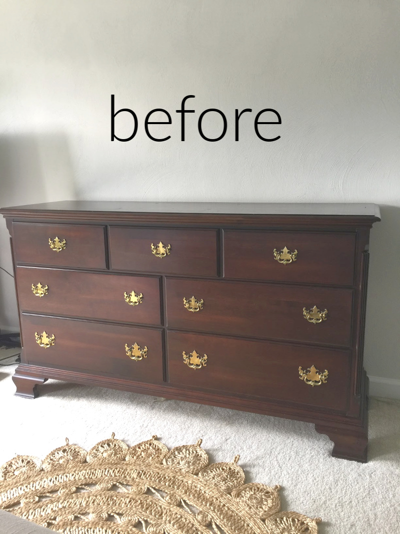 Cherry Dresser - before