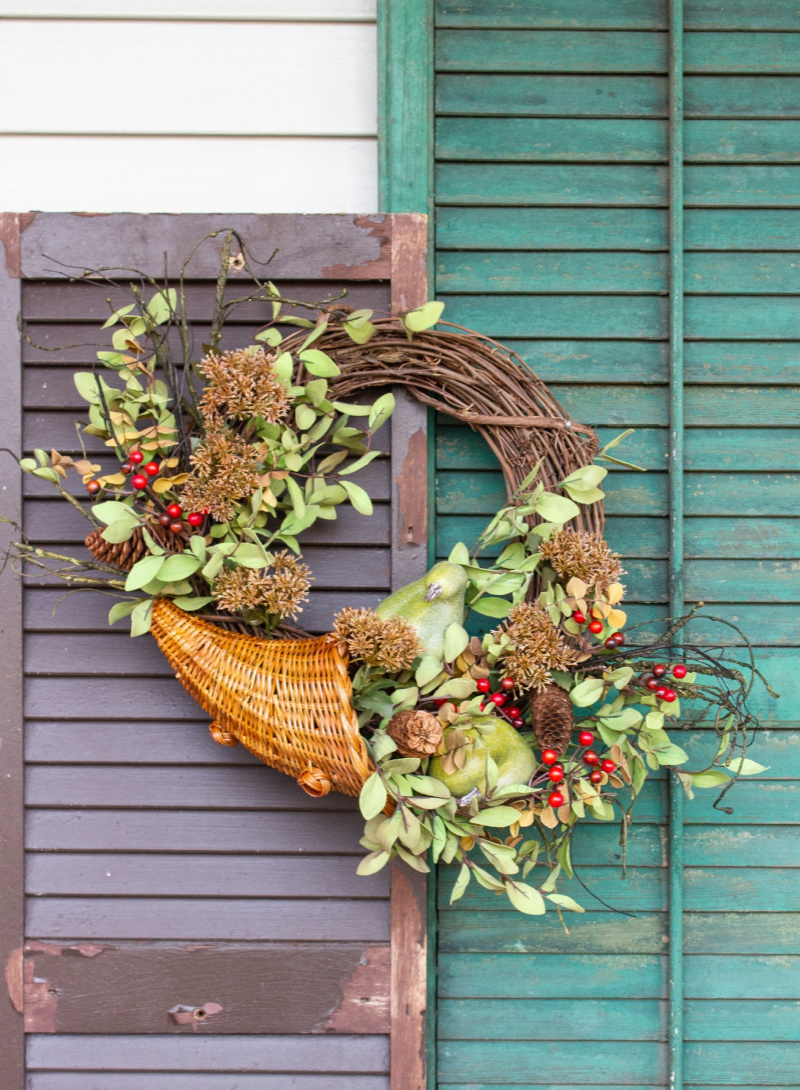 Cornucopia Fall Wreath
