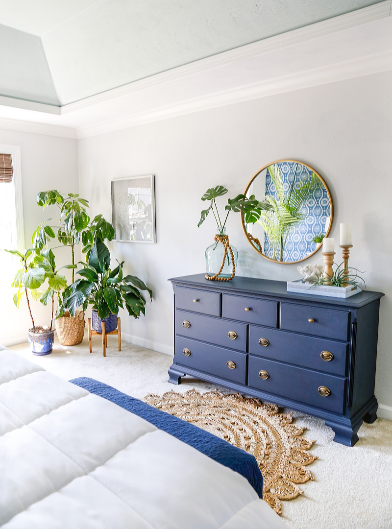 Midnight Blue Fusion Mineral Paint Dresser Makeover Sand And Sisal