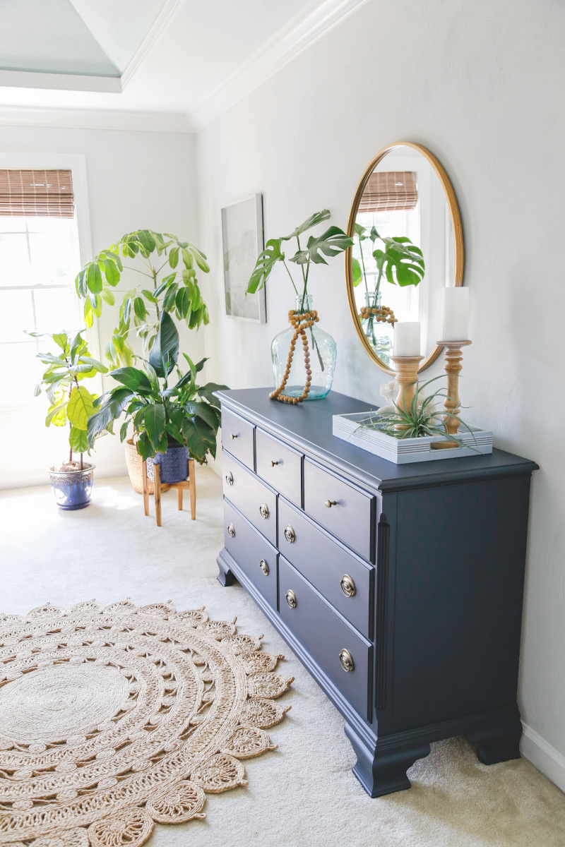 Navy Blue Painted Dresser