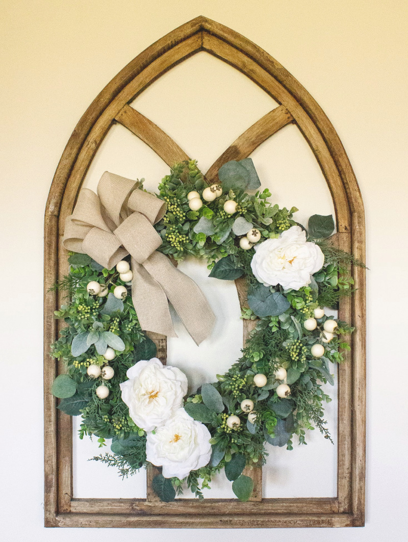Winter Berry Floral Wreath