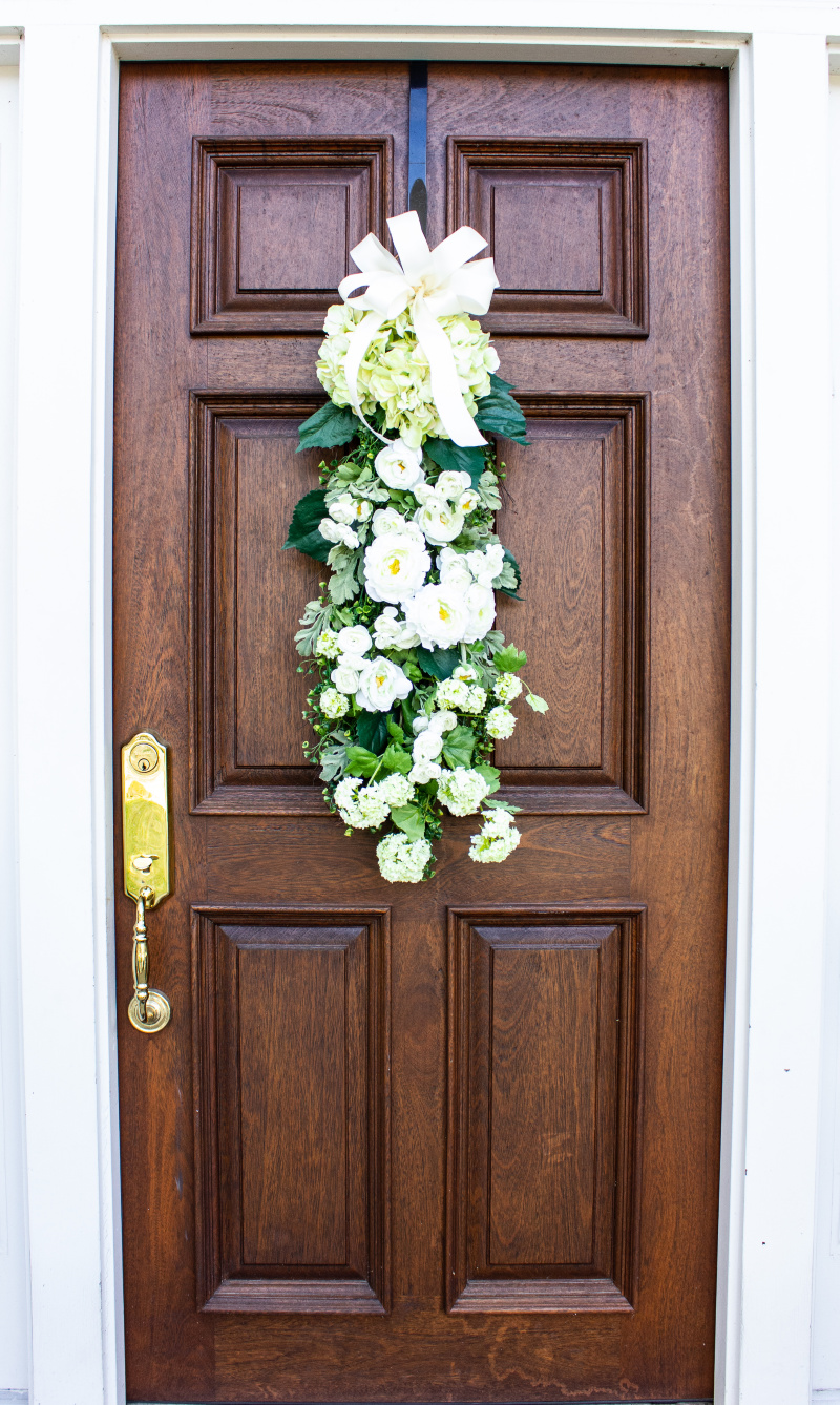 Summer floral door swag