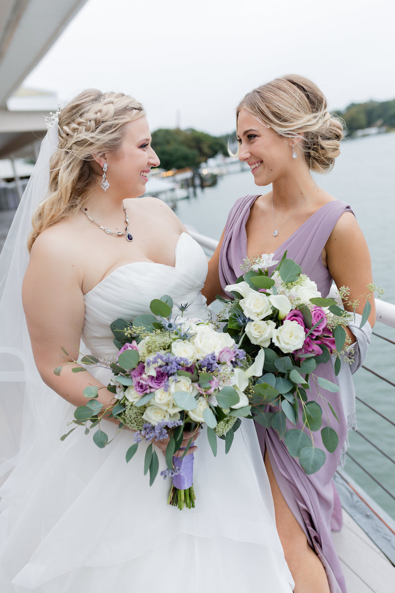 Lavender Themed Fall Wedding Bouquets
