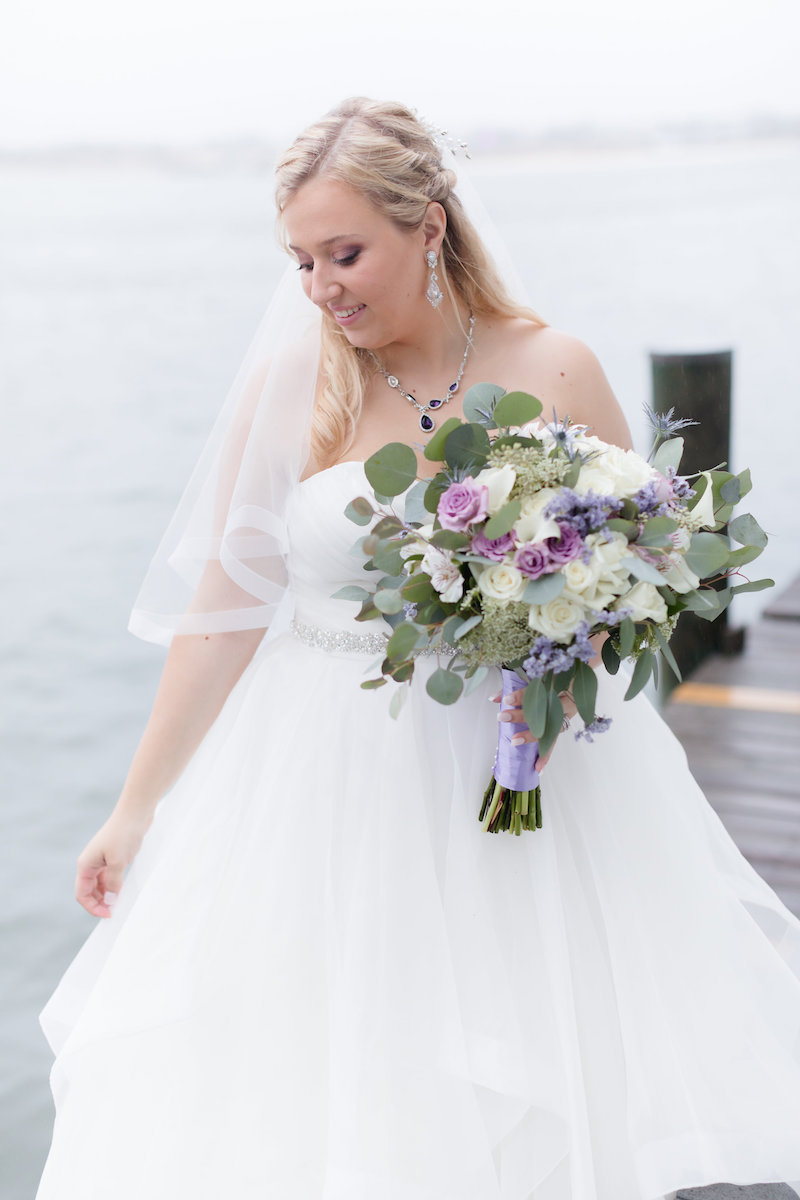 Lavender Fall Coastal Wedding