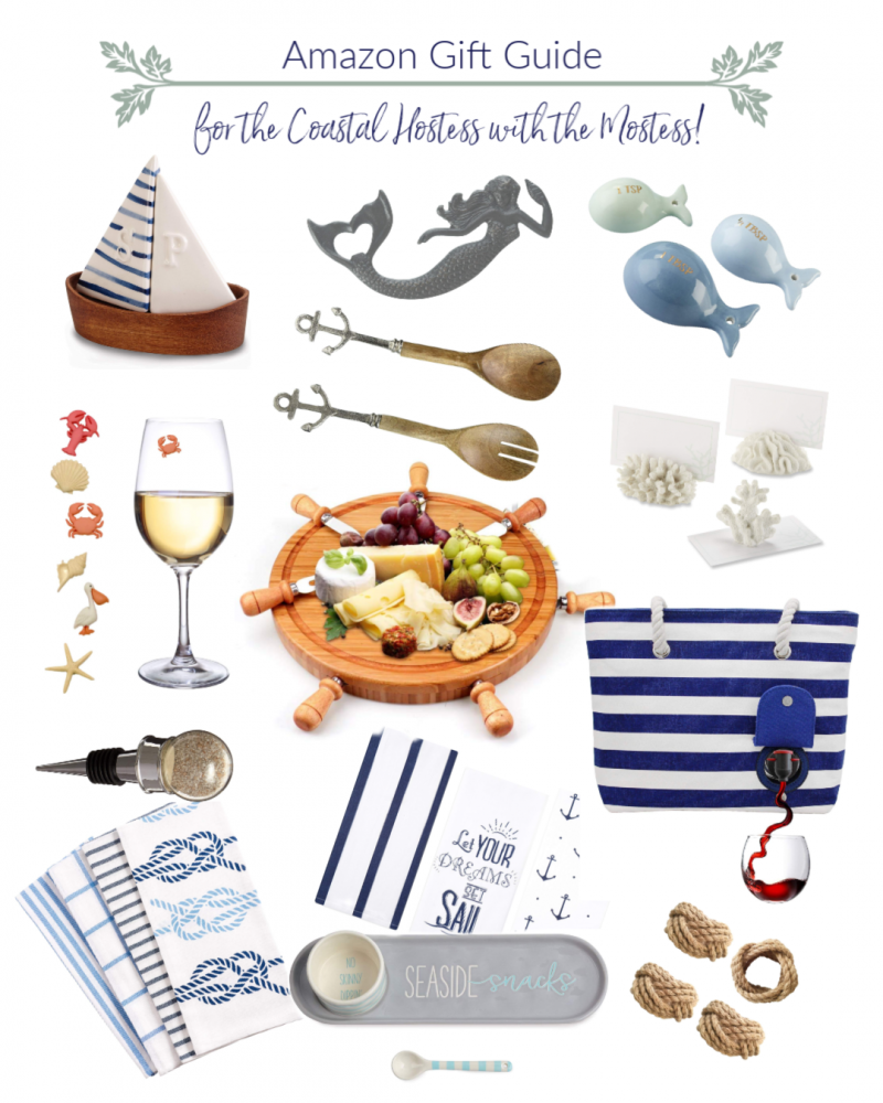 Amazon Holiday Gift Guide for the Coastal Hostess with the Mostess