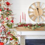 Cranberry Christmas Mantel