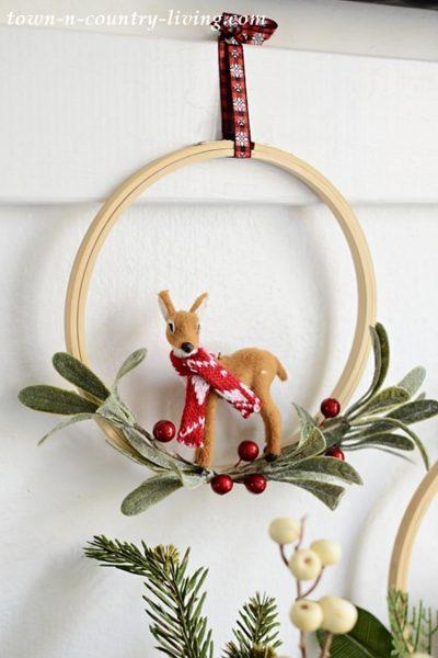Reindeer Hoop Wreath