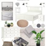 Contemporary coastal Bedroom design board