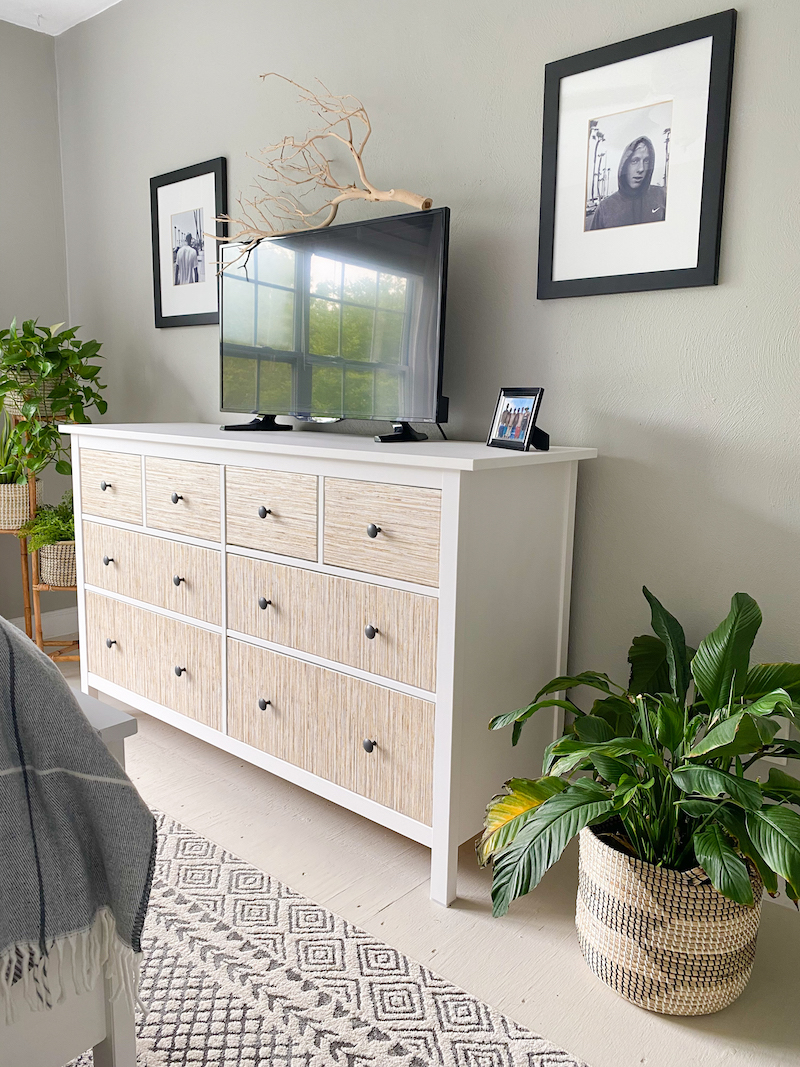 DIY Grasscloth IKEA Dresser Hack