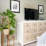DIY Grasscloth IKEA Dresser Hack