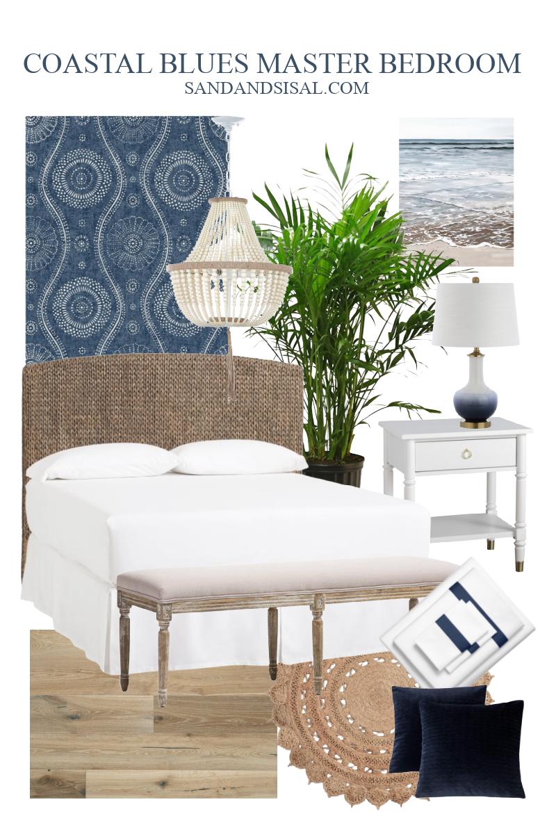 Coastal Master Bedroom Design Board