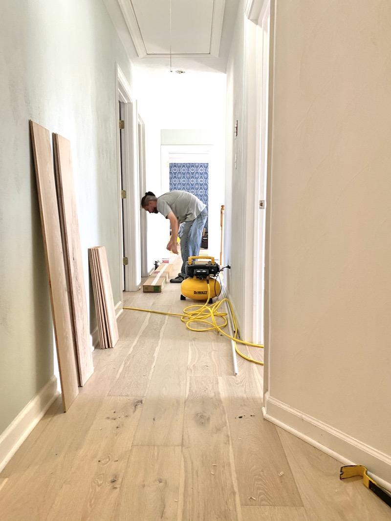 Installing Hardwood flooring upstairs