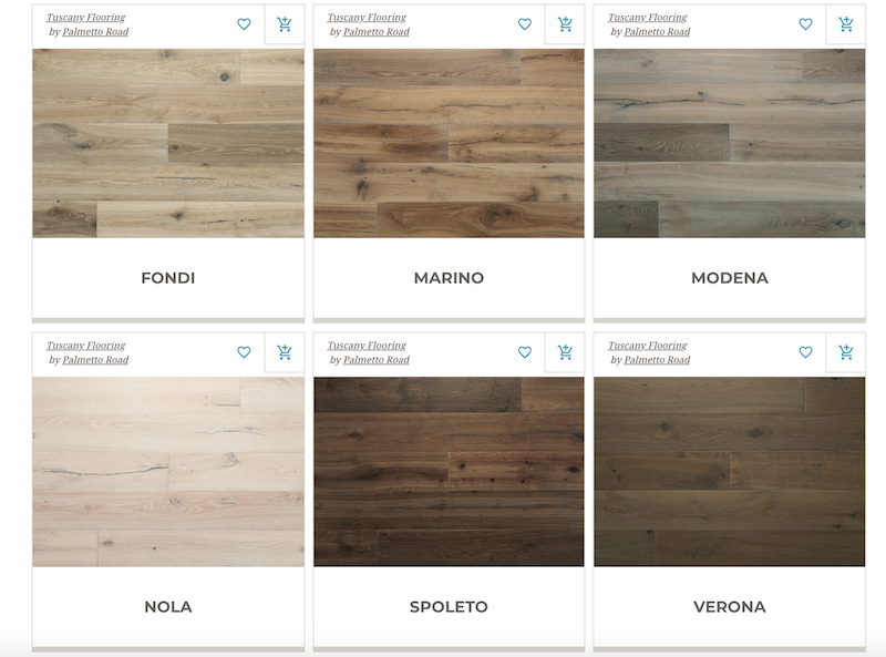 Tuscany Hardwood Flooring by Palmetto Road