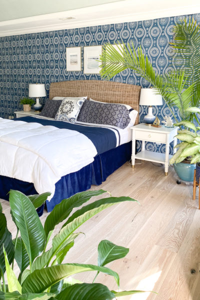 Coastal Blues Master Bedroom - Palmetto Road Flooring