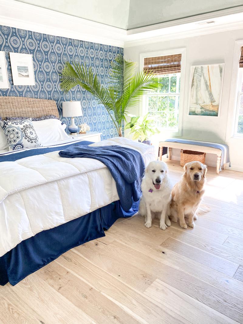 Nola Hardwood Flooring - Coastal Master Bedroom