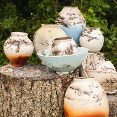 Wild Horse Hair Moon Jars - Michael Middleton Ceramics