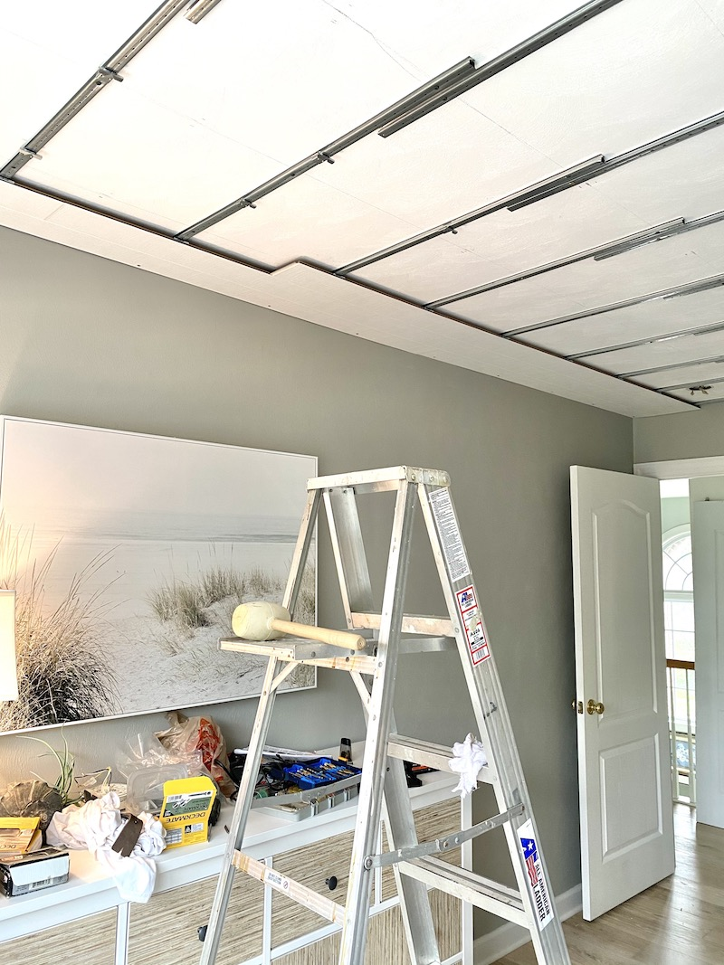 installing Armstrong Woodhaven ceiling planks