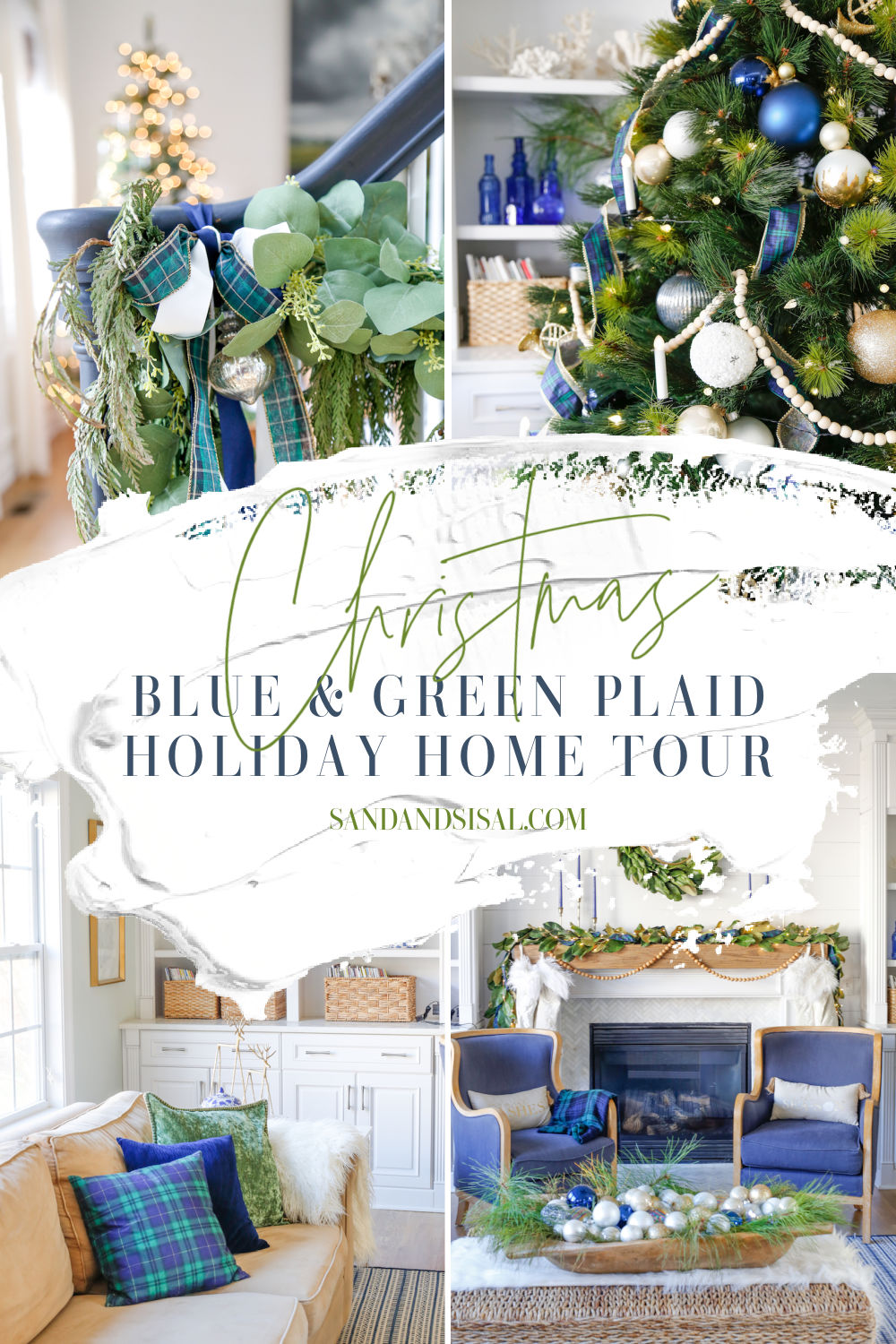 Blue and Green Plaid Holiday Home Tour